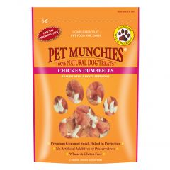 Pet Munchies Chicken Breast & Rawhide Dumbbells 80g