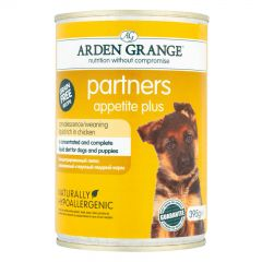 Arden Grange Partners Appetite Plus Chicken Wet 12x395g Can