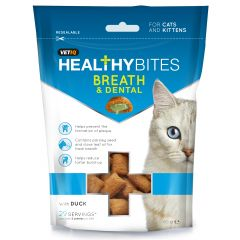 VetIQ Healthy Bites Breath & Dental Cat Treats 65g