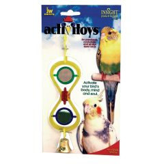 JW Activitoys Hour Glass Mirror Bird Toy