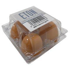Eton Rubber Hen Nest Egg Brown - Pack of 4