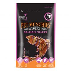Pet Munchies Salmon Fillet Dog Treats 90g
