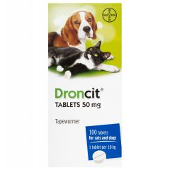 Droncit Worming Tablet for Cat and Dog - 50mg