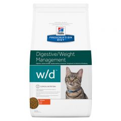 Hills Prescription Diet W/D Digestive/Weight Management Feline with Chicken Dry