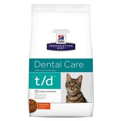 Hills Prescription Diet T/D Dental Care Feline with Chicken Dry