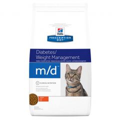 Hills Prescription Diet M/D Diabetes/Weight Management Feline with Chicken Dry