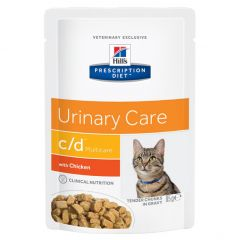 Hills Prescription Diet Urinary Care C/D Multicare Feline Wet Food 12x85g Pouch