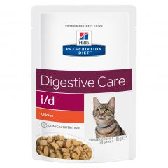 Hills Prescription Diet Digestive Care I/D Feline Food Wet 12x85g Pouch