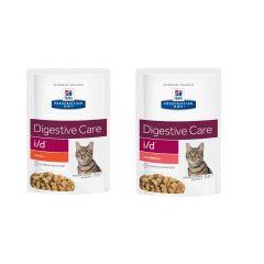 Hills Prescription Diet i/d Digestive Care Cat Food Wet 12x85g Pouch