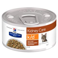 Hills Prescription Diet K/D Stew with Chicken & added Vegetables Cat Food 24x82g Can