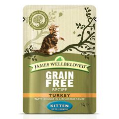 James Wellbeloved Grain Free Kitten Food Wet Pouches