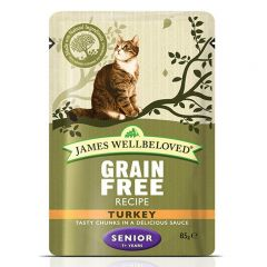 James Wellbeloved Grain Free Senior Cat Food Wet Pouches