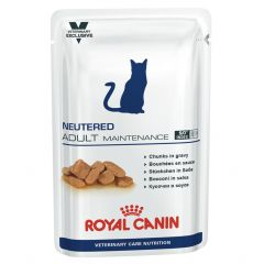 Royal Canin Veterinary Care Nutrition Neutered Adult Cat Maintenance Wet Food 48x100g Pouches