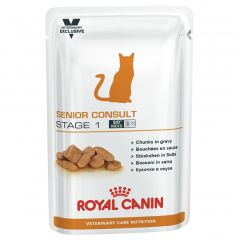 Royal Canin Veterinary Care Nutrition Feline Senior Consult Stage 1 Wet 48x100g Pouches