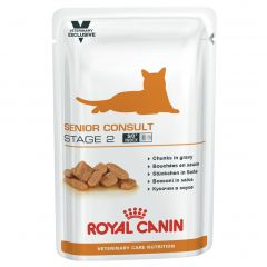 Royal Canin Veterinary Care Nutrition Feline Senior Consult Stage 2 Wet 48x100g Pouches