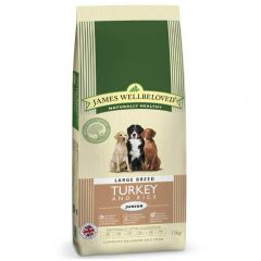 James Wellbeloved Junior Large Breed Dog with Turkey & Rice Dry