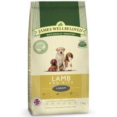 James Wellbeloved Light Adult Dog with Lamb & Rice Dry