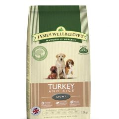 James Wellbeloved Light Adult Dog with Turkey & Rice Dry
