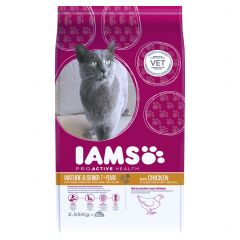 IAMS ProActive Health Mature/Senior Cat with Chicken Dry 2.55kg