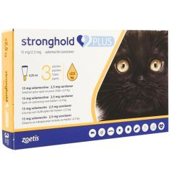 Stronghold PLUS 15mg/2.65mg Spot-On for Small Cats (weighing up to 2.5kg) - 3 Pack