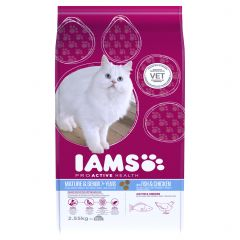 IAMS ProActive Health Mature/Senior Cat with Fish & Chicken Dry 2.55kg