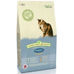 James Wellbeloved Hairball Cat Food with Turkey Dry