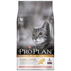 Purina Pro Plan Derma Plus Adult Cat Optiderma Hairball Control with Salmon Dry 1.5kg