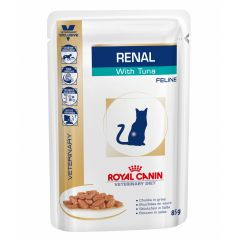 Royal Canin Veterinary Diet Feline Renal with Tuna Wet 48 x 85g Pouch