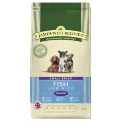 James Wellbeloved Senior Small Breed Dog with Fish & Rice Dry