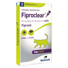 Fiproclear Spot On Flea and Tick Treatment for Cats