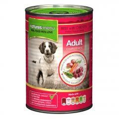 Natures Menu Beef with Chicken Dog Food 12x400g Cans