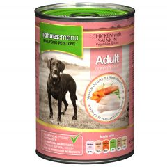 Natures Menu Chicken with Salmon Dog Food 12x400g Cans
