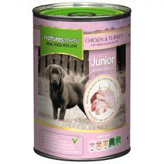 Natures Menu Chicken & Turkey Puppy/Junior Food 12x400g Cans
