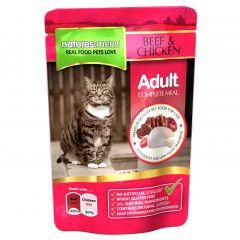 Natures Menu Beef & Chicken Meal for Cats 12x100g Pouches