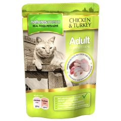 Natures Menu Chicken & Turkey Meal for Cats 12x100g Pouches