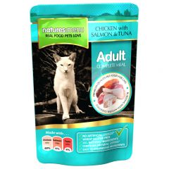 Natures Menu Chicken with Salmon/Tuna Meal for Cats 12x100g Pouches