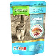 Natures Menu Chicken, Salmon & Cod Senior Cat Food 12x100g Pouches
