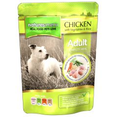 Natures Menu Chicken, Vegetables & Rice Dog Food 8x300g Pouches