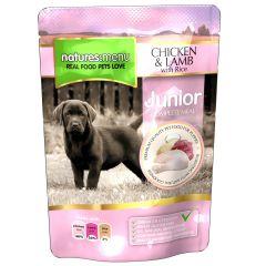 Natures Menu Chicken, Lamb & Rice Puppy/Junior Food 8x300g Pouches