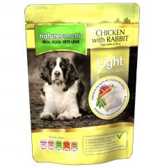 Natures Menu Light Chicken with Rabbit Dog Food 8x300g Pouches