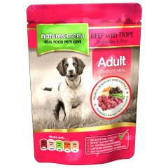 Natures Menu Beef with Tripe Dog Food 8x300g Pouches