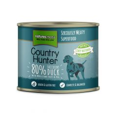 Natures Menu Country Hunter Duck Dog Food 6x600g Cans
