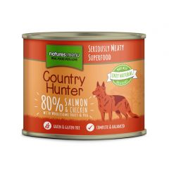 Natures Menu Country Hunter Salmon with Chicken Dog Food 6x600g Cans