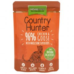 Natures Menu Country Hunter Chicken & Goose Cat Food 6x85g Pouches