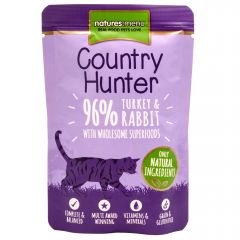 Natures Menu Country Hunter Turkey & Rabbit Cat Food 6x85g Pouches