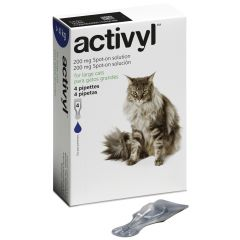 Activyl Spot on Flea Treatment for Large Cats (over 4kg) - Pack of 4 Pipettes