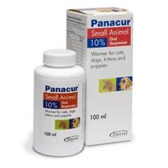 Panacur 10% Oral Suspension for Cats and Dogs - 100ml