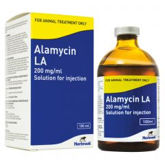 Alamycin La 200mg/ml Solution for Injection - 100ml bottle