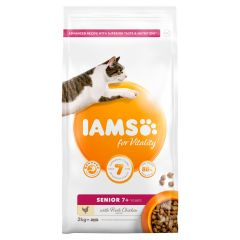 IAMS for Vitality Senior Cat Food with Fresh Chicken Dry 2kg