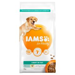IAMS for Vitality Light in fat  Dog food with Fresh chicken